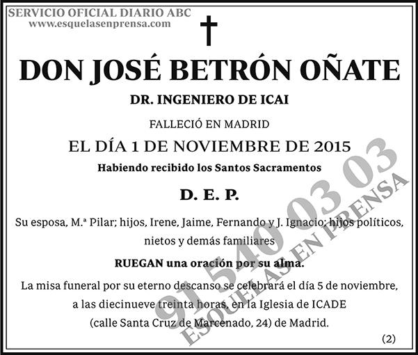 José Betrón Oñate